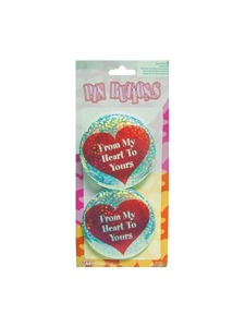 2pc. hearts bottons