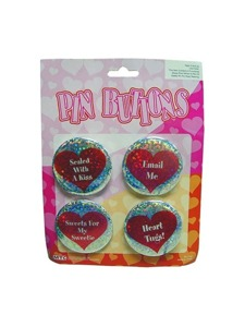 2.5 inch heart buttons