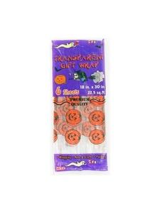 6 sheet transparent halloween giftwrap