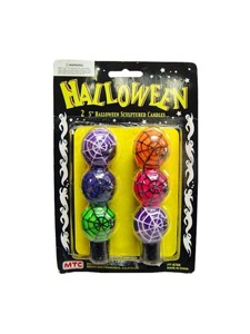 2 Pack sculptured Halloween candle set