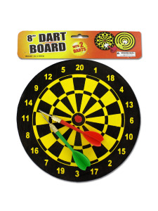 Dart board with 2 darts
