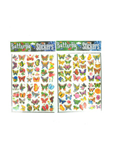 butterfly stickers (assortment may vary)