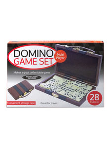 double six dominos w/ carry case