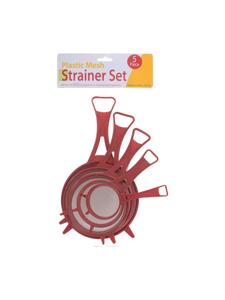 Plastic mesh strainer set