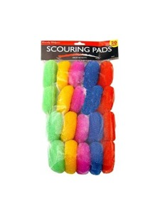 20 pk colored scouring pads