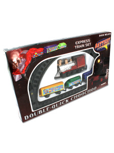 Express train set with tracks and cars