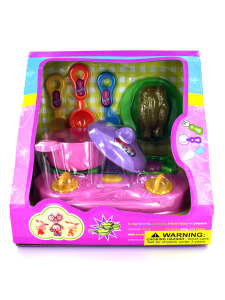 Childrens kitchen play set with stove and utensils
