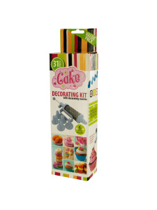 Cake decorating kit with nozzles