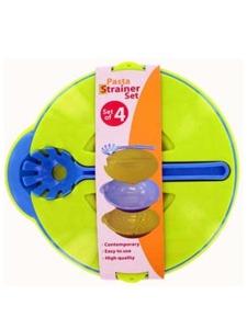 4 Pack multi-function pasta strainer set