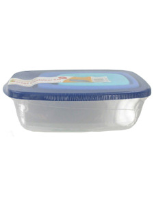 3 Pack rectangular storage container set with lids