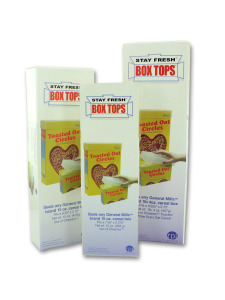3 piece set stay fresh cereal box top covers