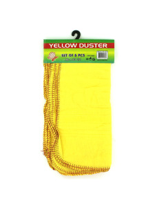 6pc yellow dusters