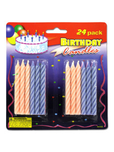 Variety birthday candles (pack of 24)