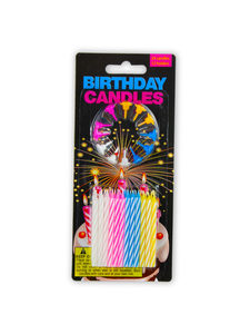 Birthday candles wit holders (pack of 24)