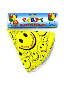Happy Face birthday hats (set of 6)