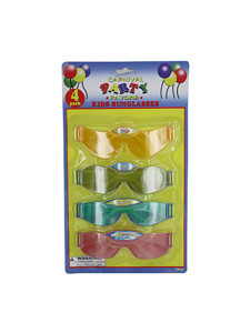 4 Pack kids party favor sunglasses