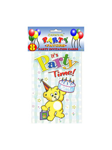 birthday party invitations (8 per pack)