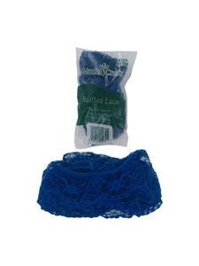 royal blue 4 yard ruffled edge lace in bag