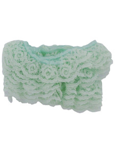 mint ruffled edge lace