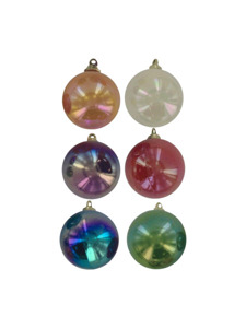 6pc christmas colored ornaments