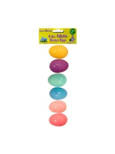 6 pack easter eggs in assorted colors