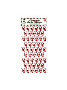 50 pk christmas santa stickers