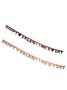 valentine paper letter banner 88 inches