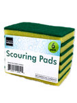 Sponge with scouring pads