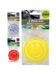 2 pack smiley car air freshener