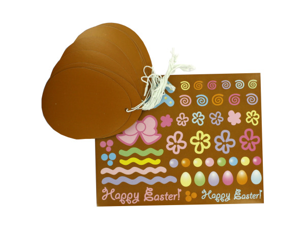 12 Chocolate Easter Egg Ornaments With Stickers