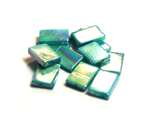 12MM Aqua Blue Rec Fw Shell Beads