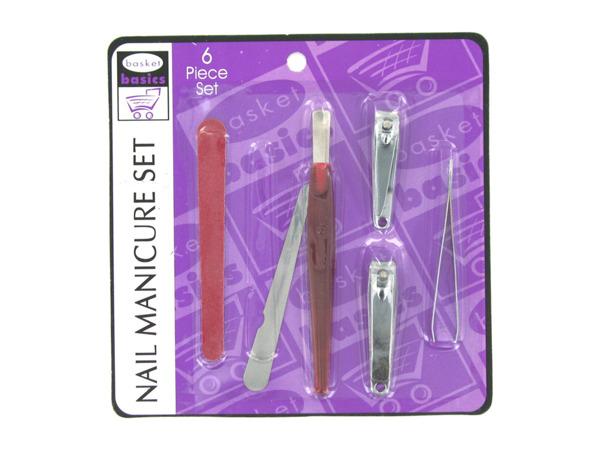 Nail manicure set, 6 pieces