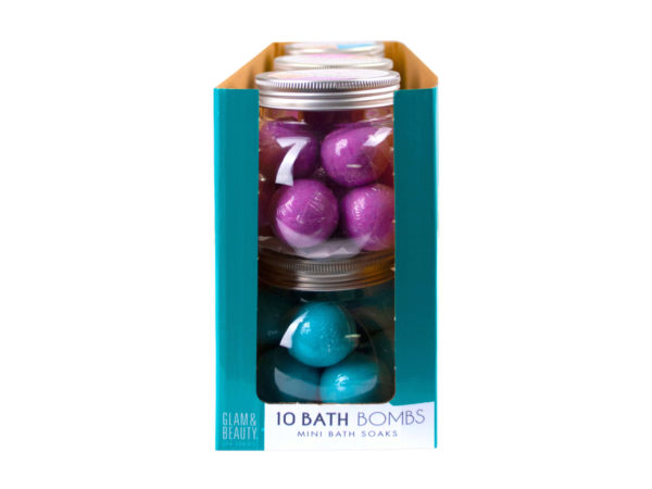 10 Pc Bath Bombs in Assorted Colors in Countertop Display