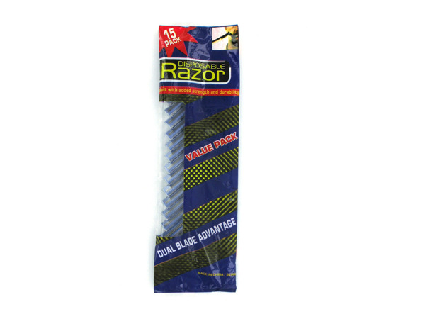 15 Pack Mens disposable razors