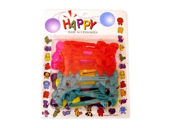 Plastic barrettes, various colors