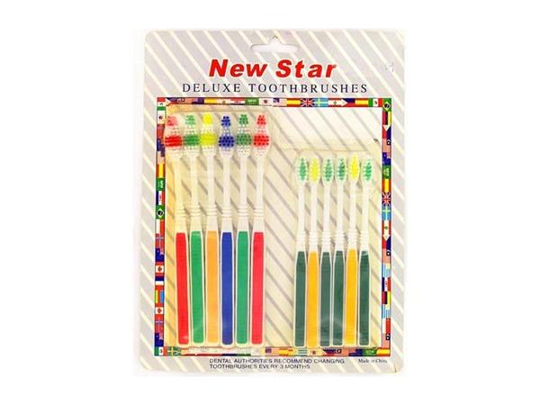 10 Pack toothbrush set