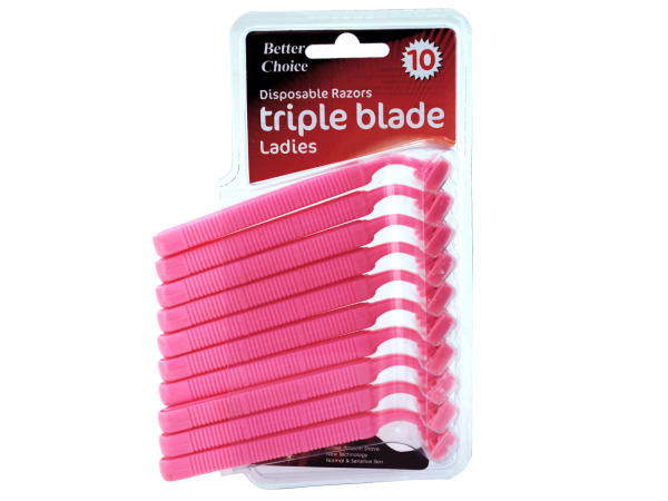 Ladies Triple Blade Disposable Razors