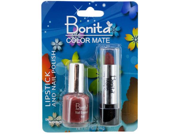 Nail Polish and Lipstick Set
