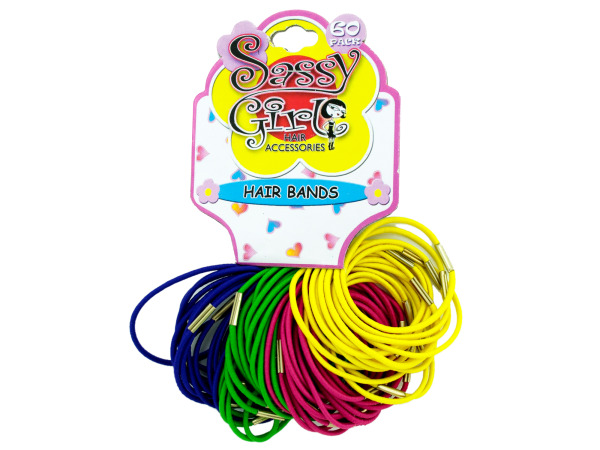 Bright elastic hair bands