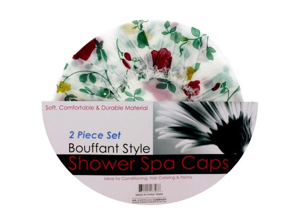Bouffant Style Shower Spa Cap Set