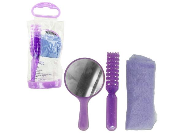 comb/mirror/hand towel