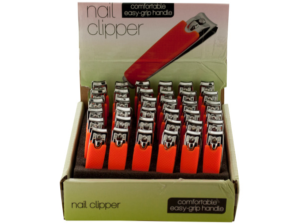 Nail Clipper with Textured Handle Countertop Display