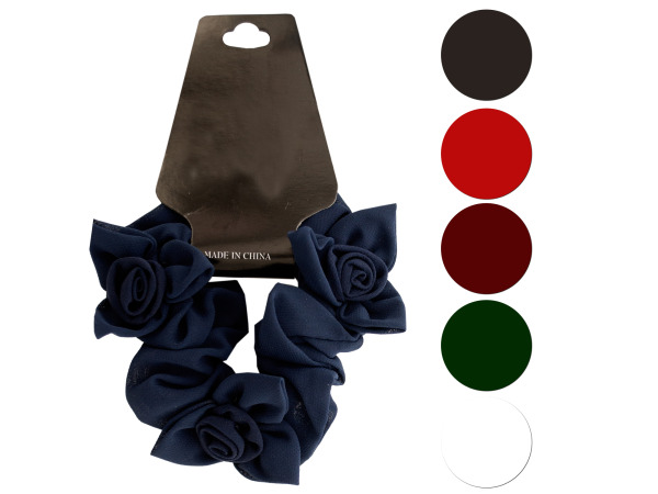 Mini Twisted Ruffle Bow Accents Hair Twister