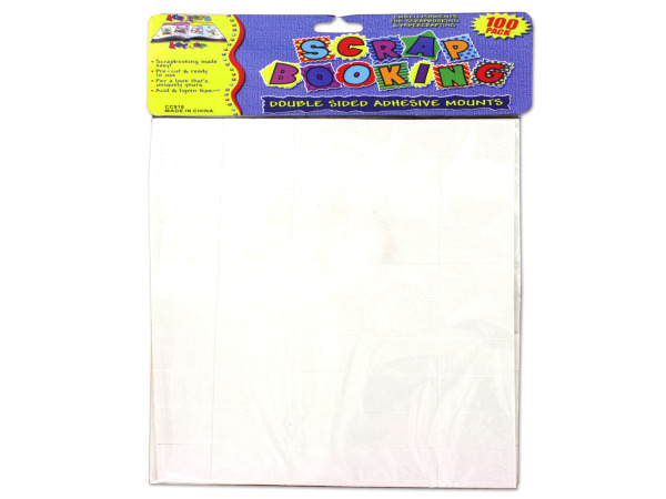 100 Pack double-sided adhesive mounts