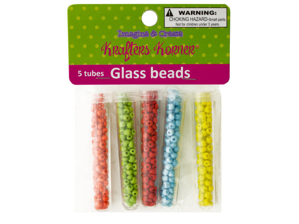 Multi-Color Glass Beads in Tubes