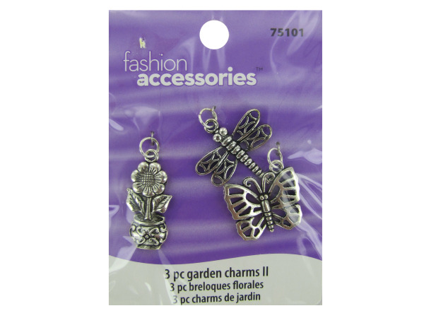 Garden charms, pack of 3