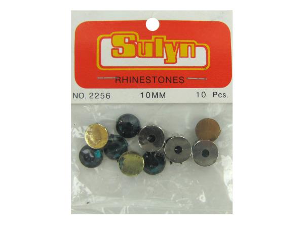 10pc 10mm green rhinestones
