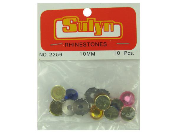 10pc 10mm multi color rhinestones