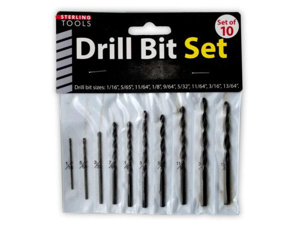 10 Pack drill bit set