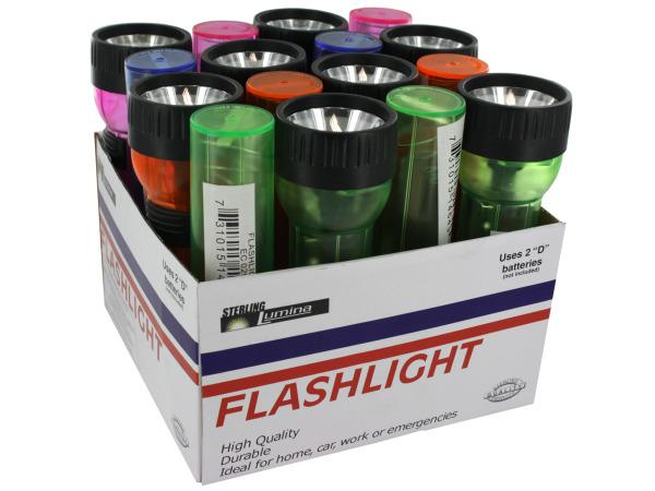 Translucent flashlight display
